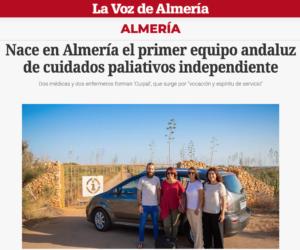 Reportaje en La Voz de Almería sobre CUIPAL